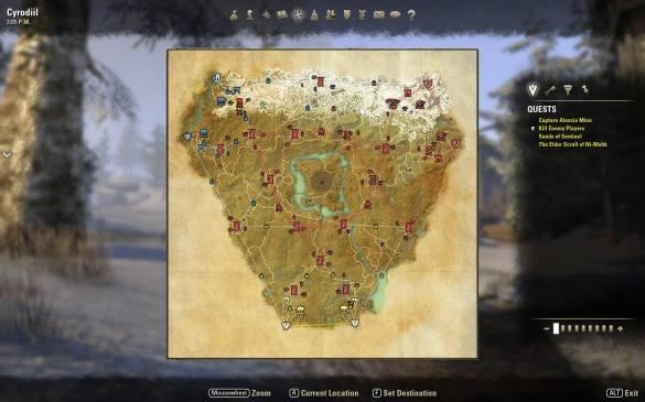 Elder Scrolls Online PvP Map