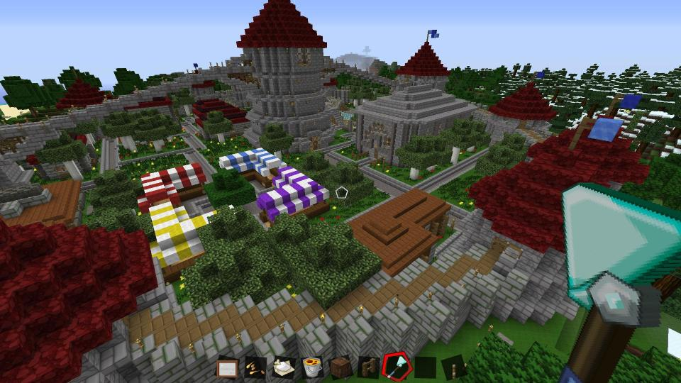 Minecraft Circle City - Market View