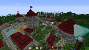 Minecraft Circle City - Residential View