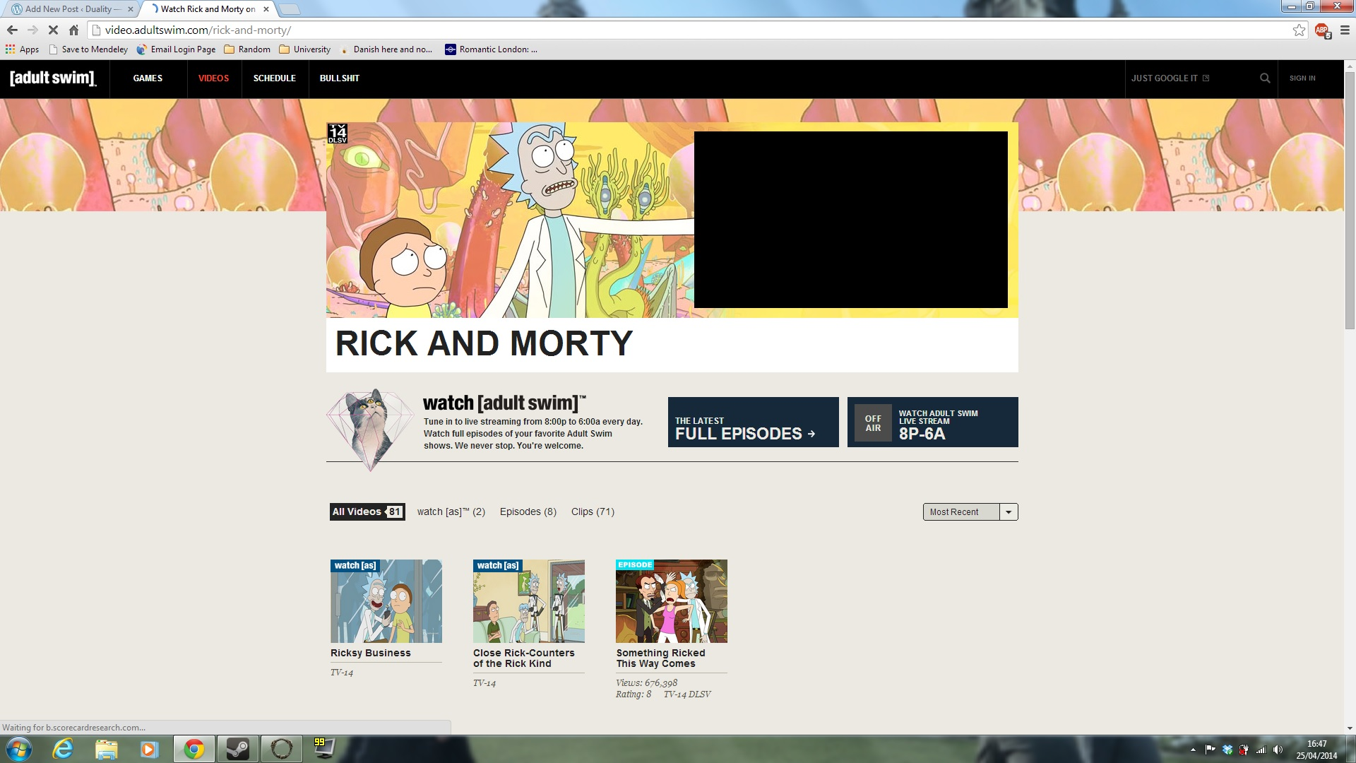 impressions rick and morty season 1 duality