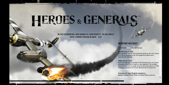 Heroes & Generals Queue Position