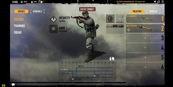 Heroes & Generals: Browser Interface