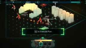 Selecting actions within the turn-based combat mode.