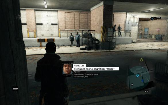 "Watch_Dogs Profile  ""Frequent online searches; ""Rape"""""