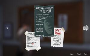 A poster highlighting help for depression in Life is Strange.