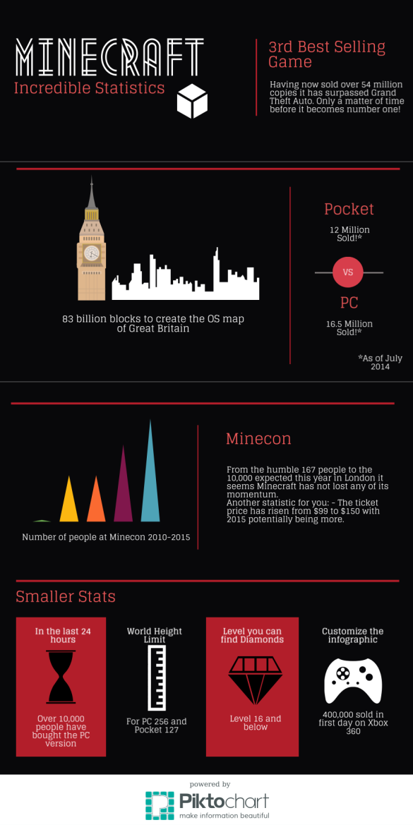 See our first Infographic, using Minecraft statistics!