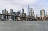 Southern Manhattan behind Brooklyn Bridge